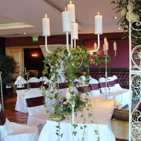 Floor White Candelabra