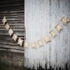 Just Married Hessian Burlap Bunting