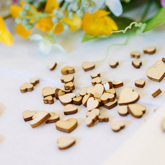 Rustic Wooden Love Hearts