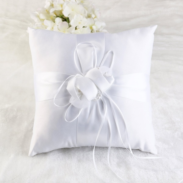 White Ring Cushion