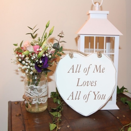 Wooden Heart Plaque - All of Me Loves All of You