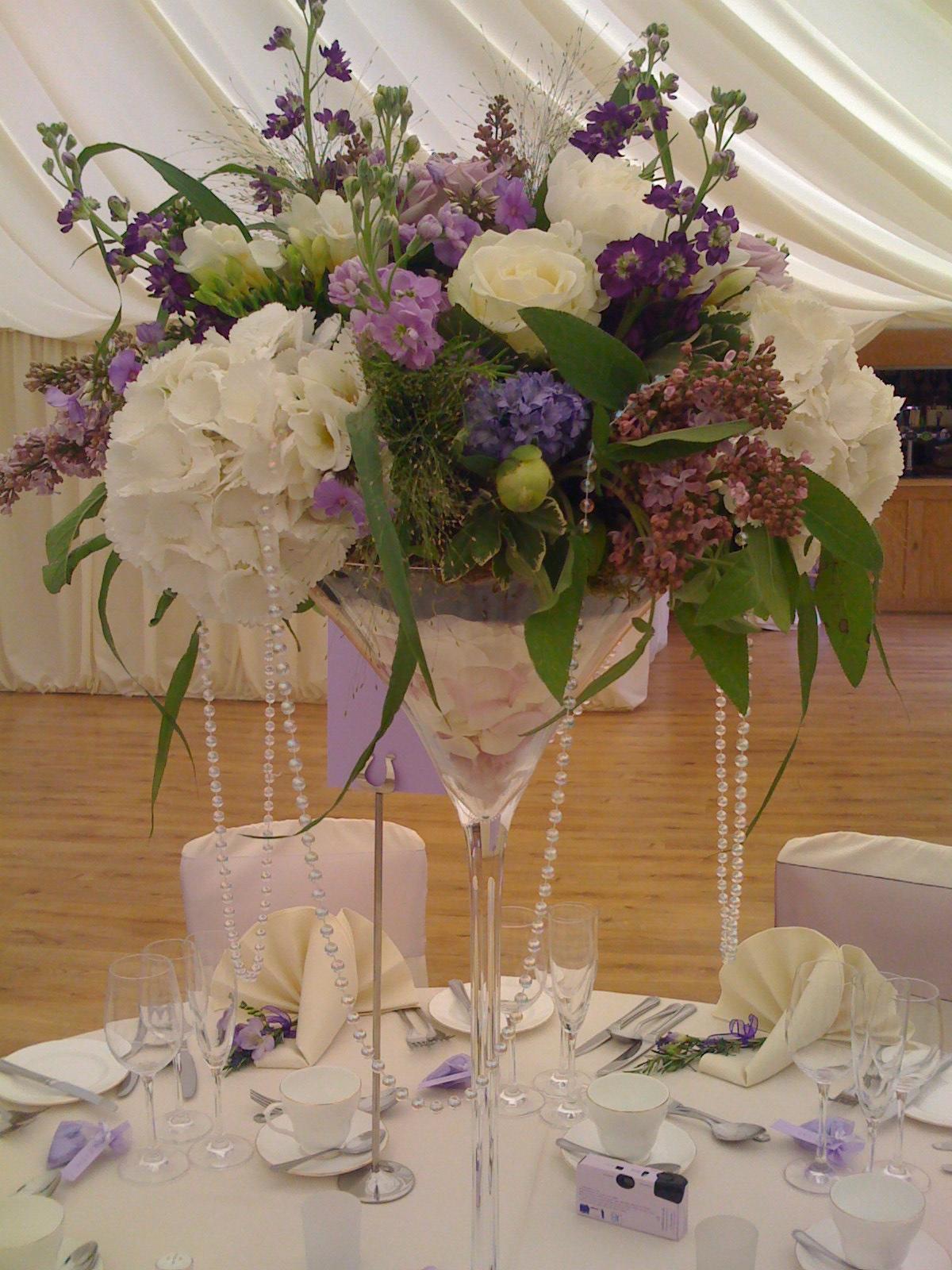 Martini Glass Vase - Flowerstouch